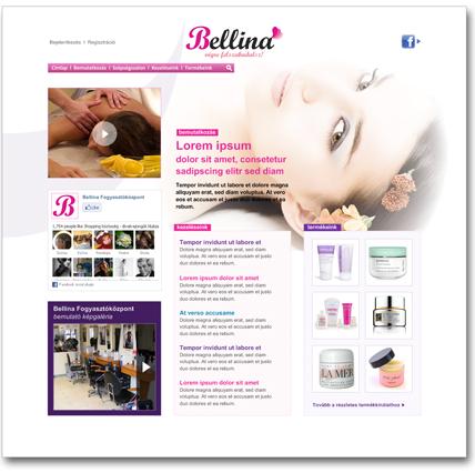 Bellina.hu design koncepciók