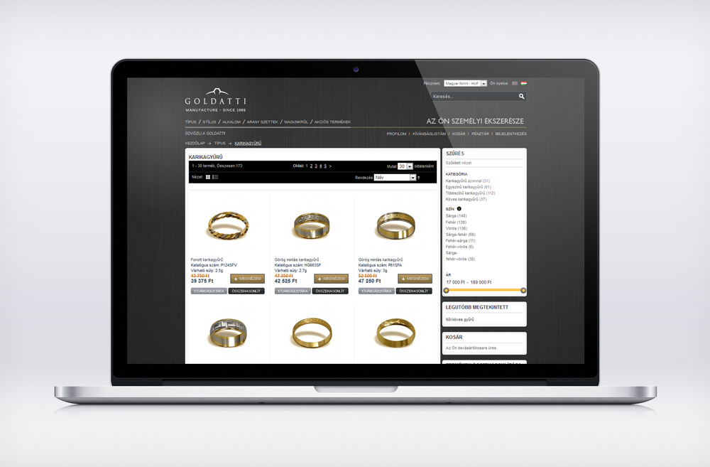 Goldatti webáruház