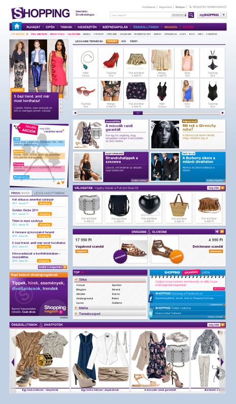 Shopping.hu interaktív divatportál