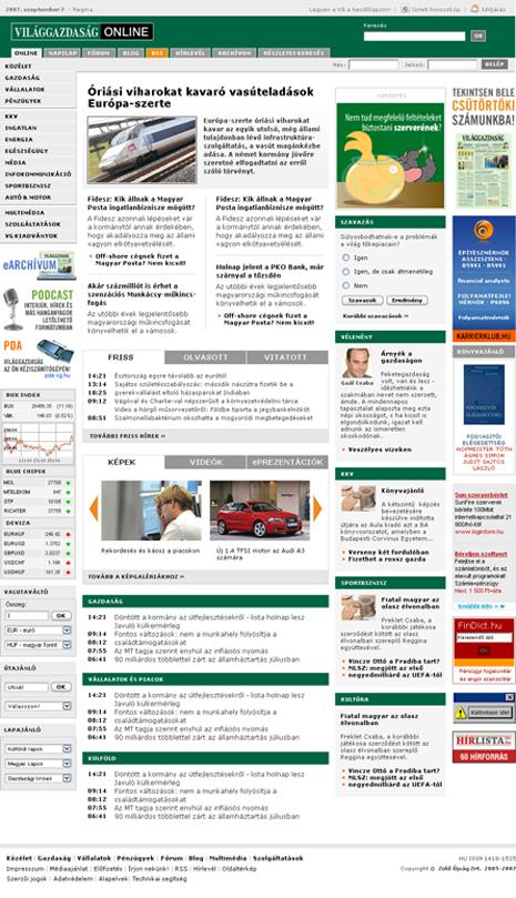 Világgazdaság Online 2007