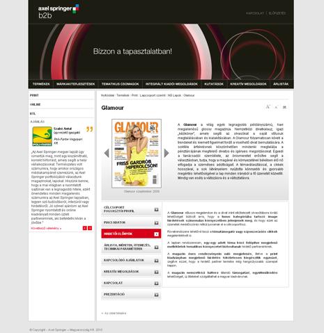 Axel Springer B2B website
