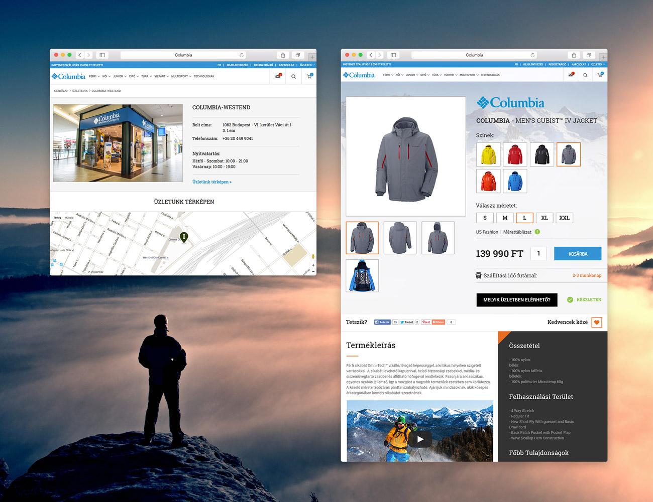 Columbia webshop
