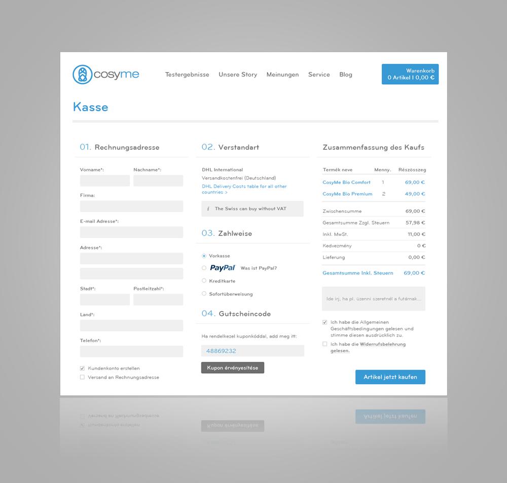 Cosyme webshop
