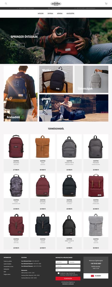 Eastpak webáruház