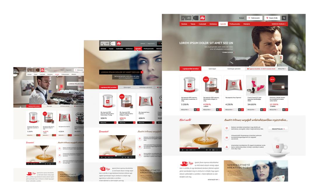Espresso webáruház UI tervezés