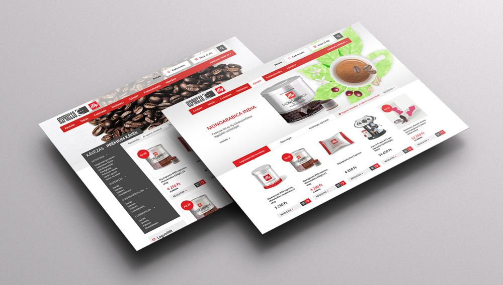 Expresso webáruház grafikai tervezés