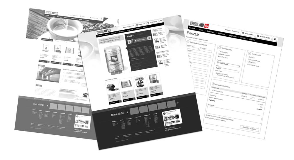 Espresso webáruház UX tervezés