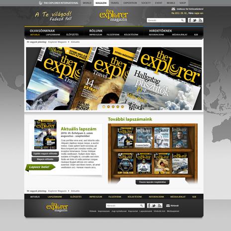Explorer előfizetői site