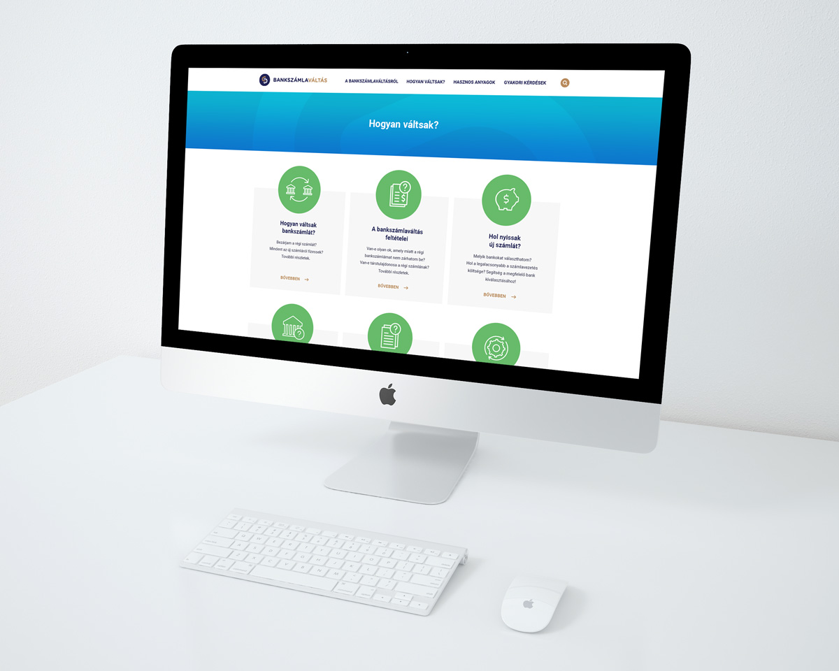 Bankváltás website