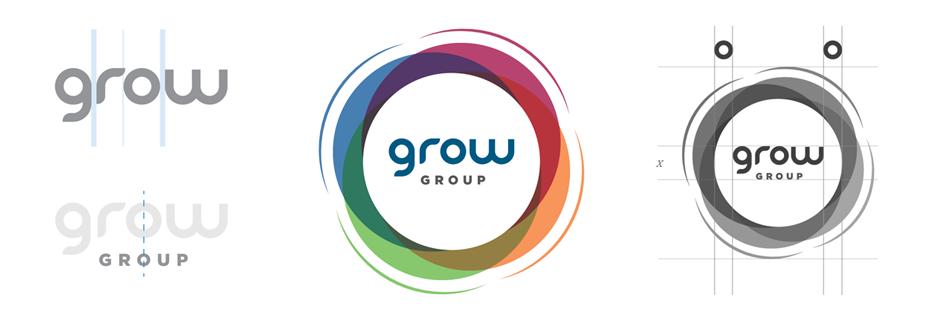 GROW csoport logótervezés