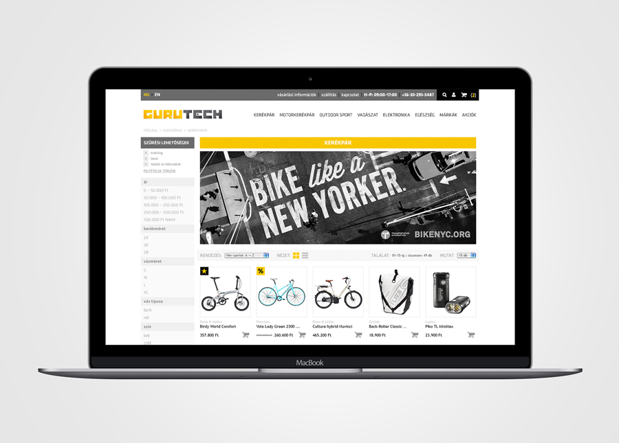 Gurutech webshop