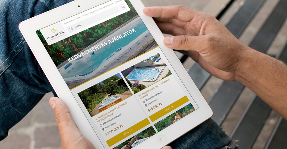 Hydropool WordPress weboldal