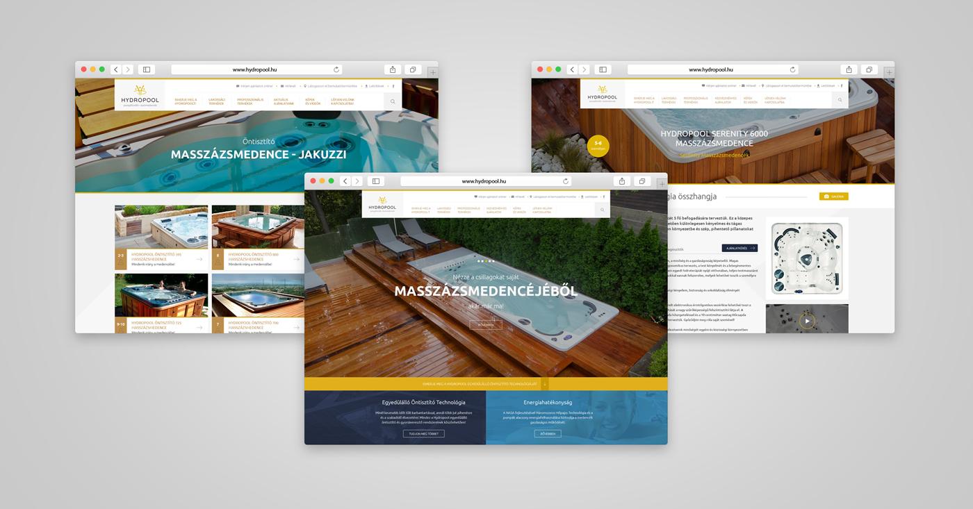 Hydropool website esettanulmány