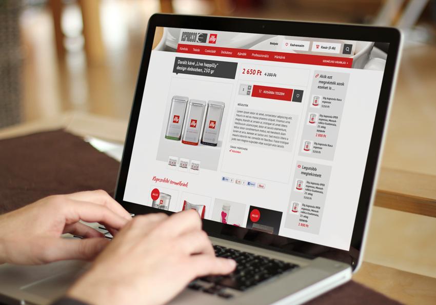 Espresso Magento webáruház fejlesztés