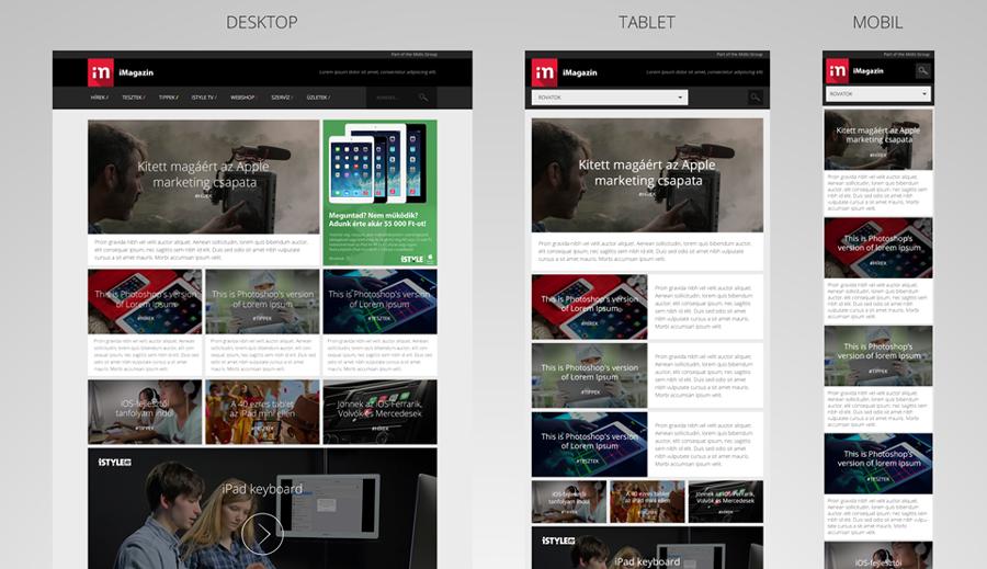 iMagazin design tervezés