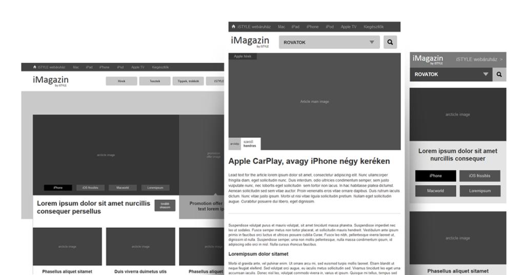 iMagazin UX tervezés