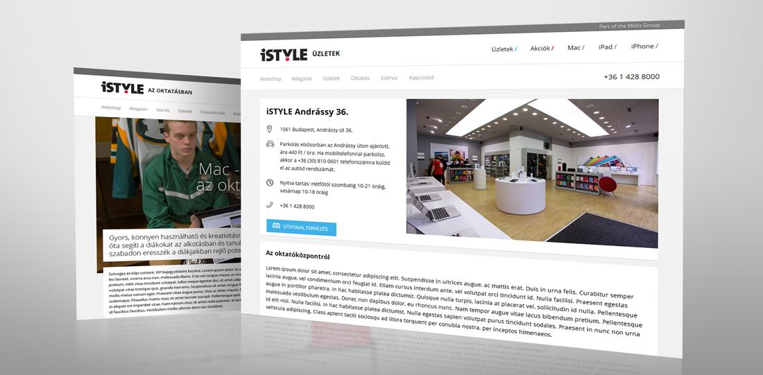 iSTYLE webáruház