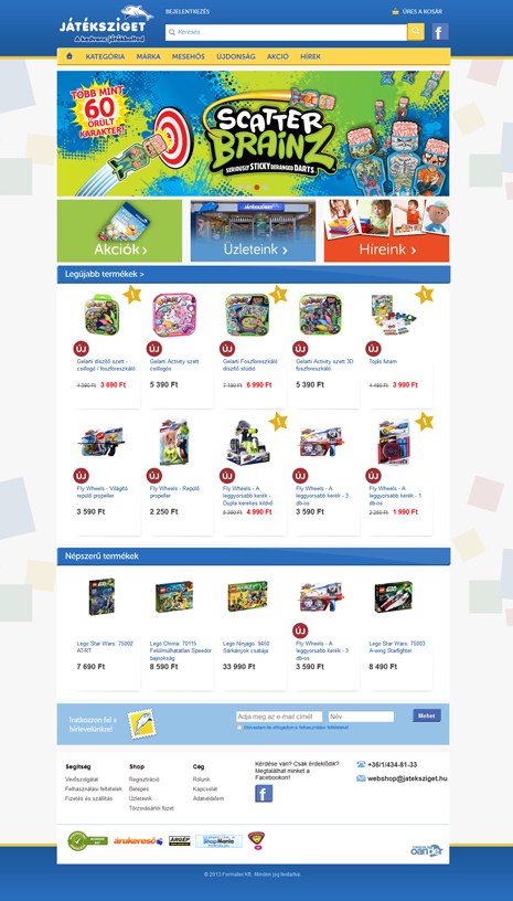 Játéksziget.hu webshop