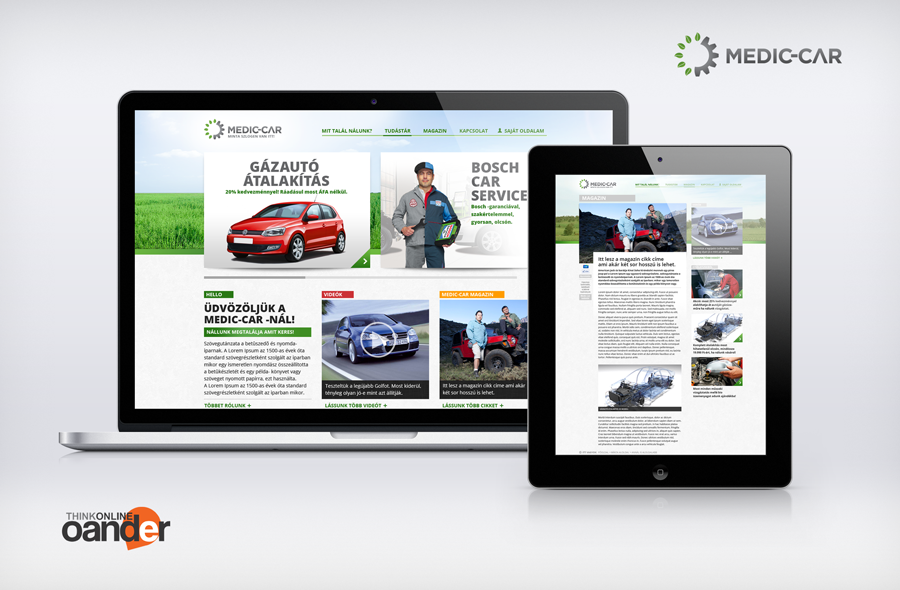 Medig-Car arculat és weboldal tervezés