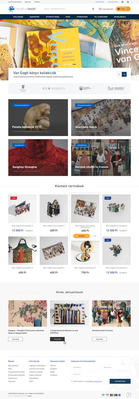 Múzeumshop webáruház