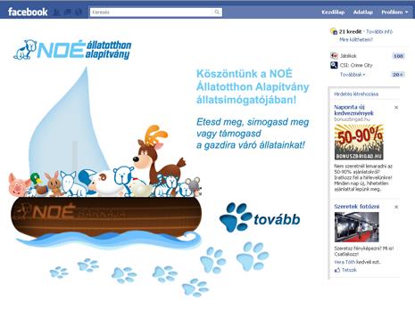 Állatsimogató Facebook alkalmazás