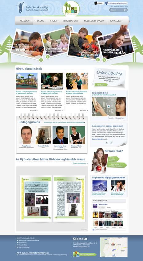 Ujalma.hu iskolai website