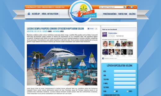 Pincér Akadémia website