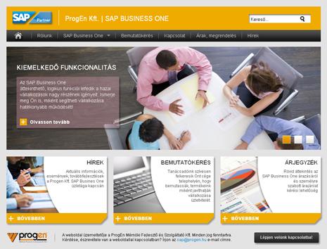 SAP értékesítői website