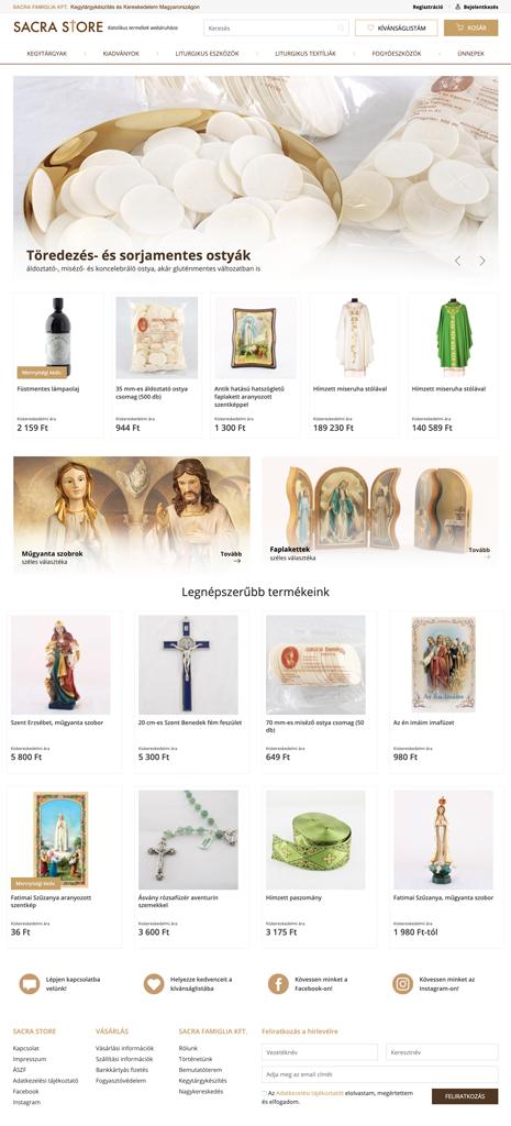 Sacrastore webáruház