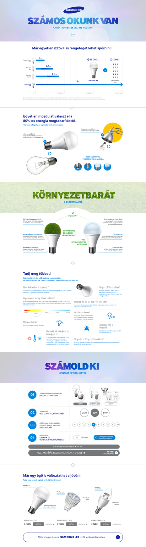Samsung sales page