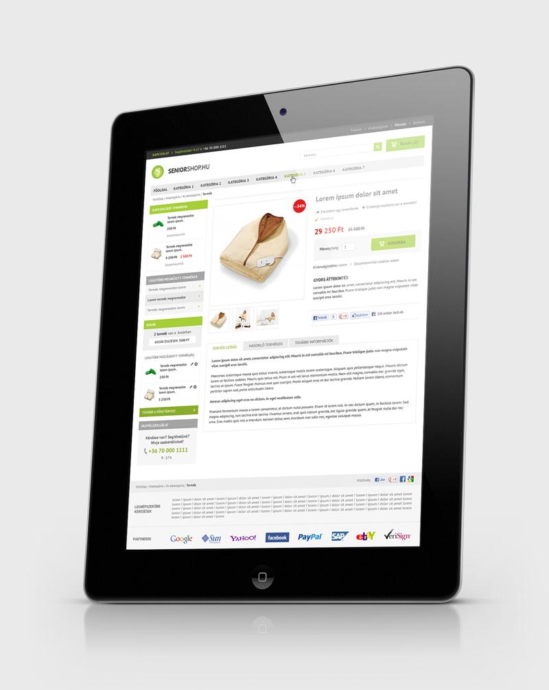 Seniorshop webáruház