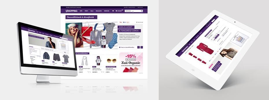 shopping.hu webshop design tervezés