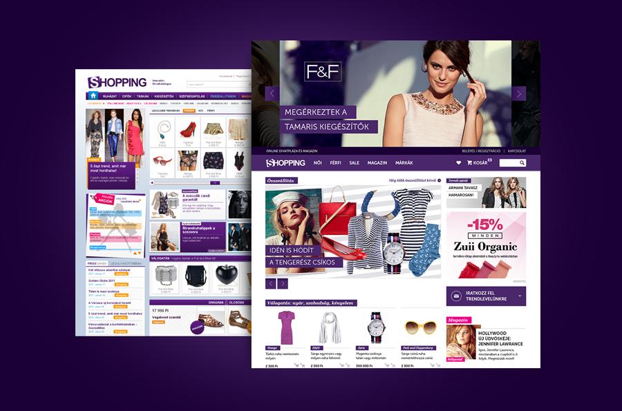 shopping.hu webáruház fejlesztése