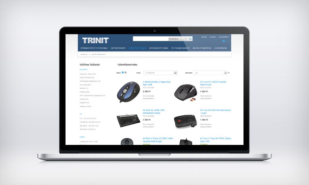 Trinit webáruház