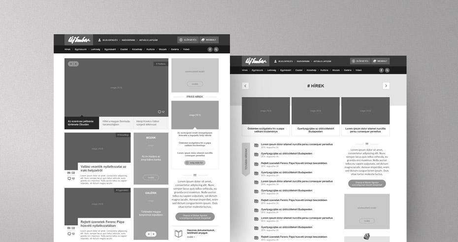 Új Ember hírportál UX tervezés
