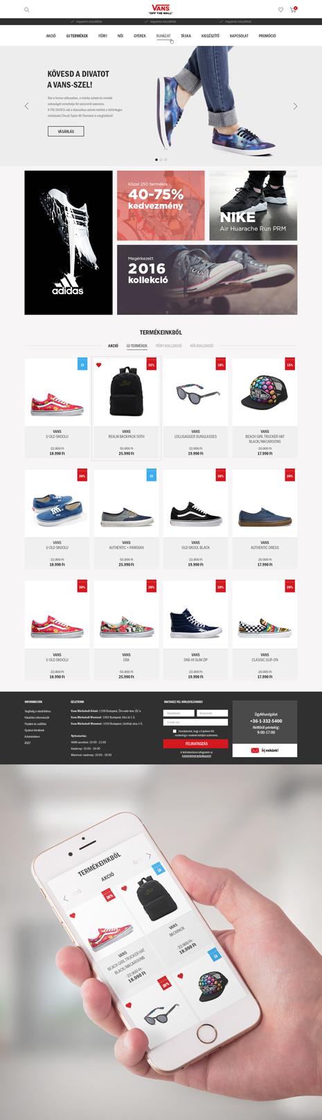 VANS webáruház