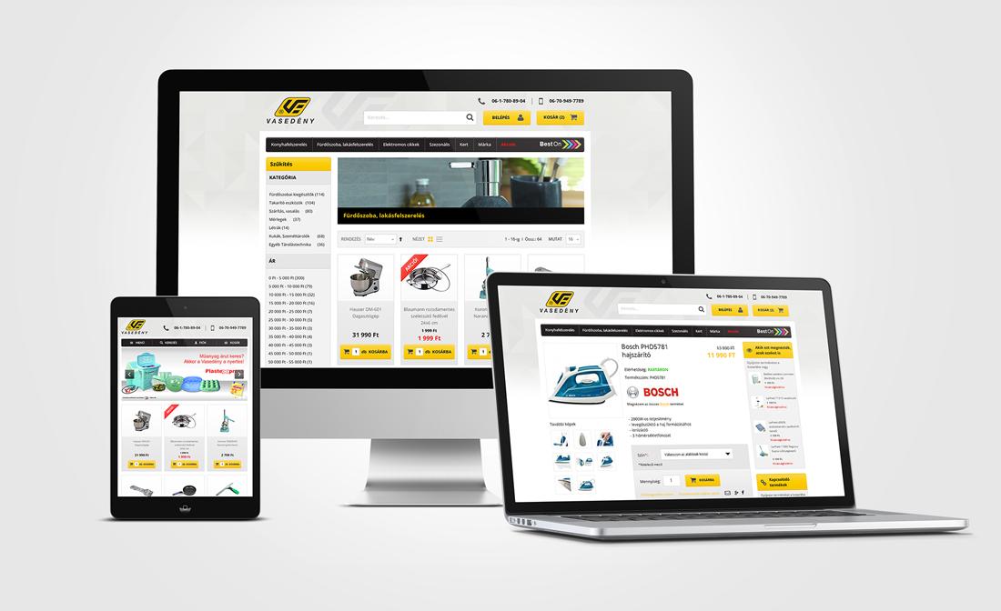 Vasedény webshop