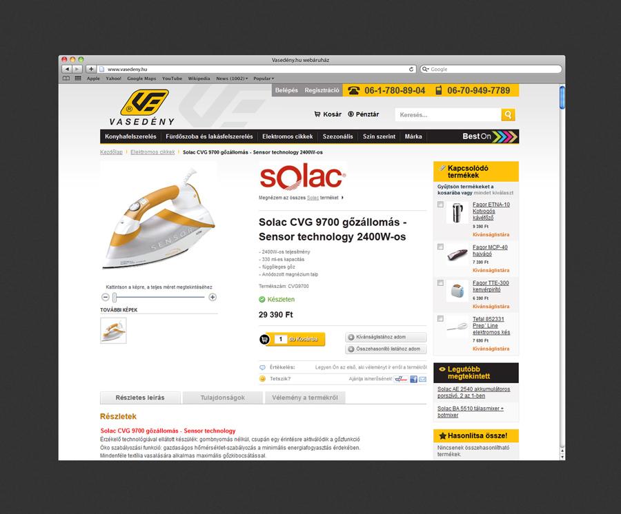 Vasedény webáruház