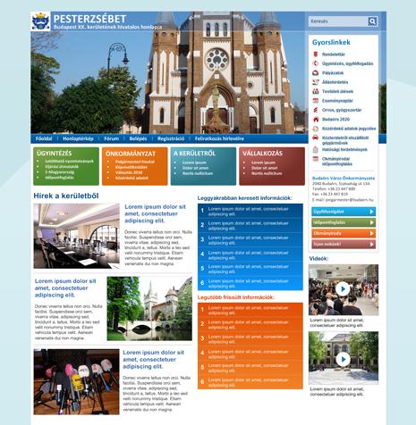 Önkormányzati portál design