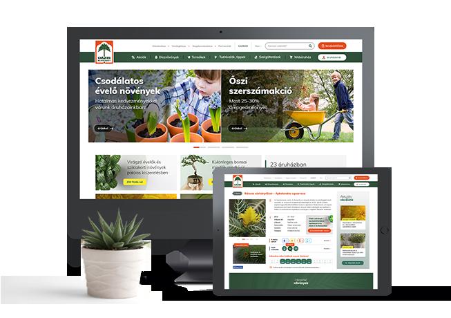 WooCommerce Oázis Kertészet