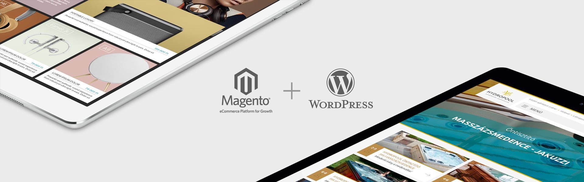 Oander termékek, WordPress és Magento