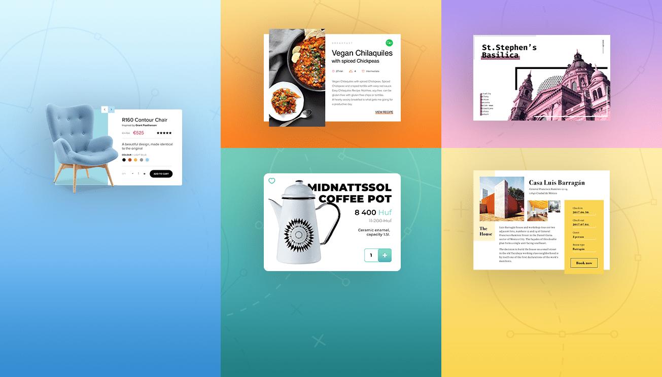 User inteface ötletek, inspirációk és tanulmányrajzok az OANDER csapatától