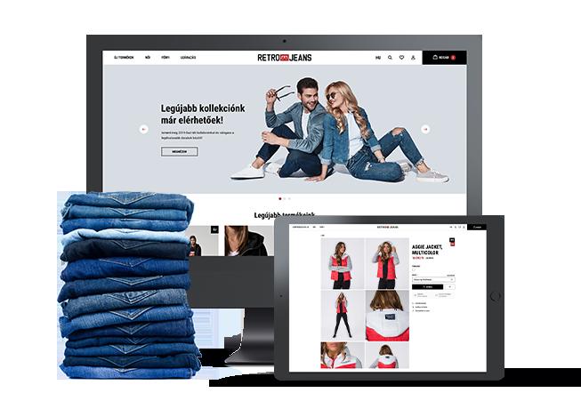 RetroJeans webáruház fejlesztés